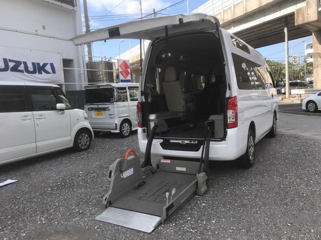 沖縄県浦添市の中古車ならNV350キャラバンバン チェアキャブ 福祉車両 車椅子2基載