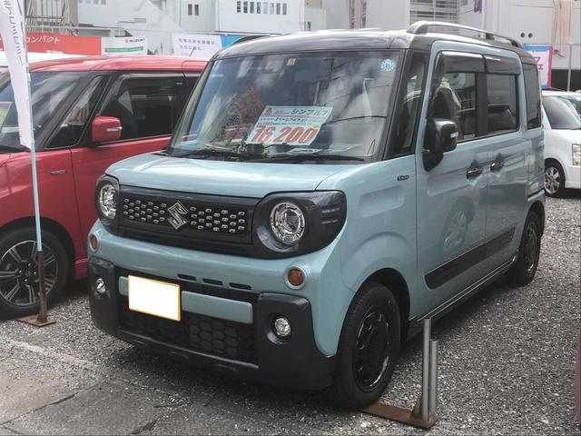 沖縄の中古車 スズキ スペーシアギア 車両価格 179万円 リ済込 2018(平成30)年 140km LグリーンII