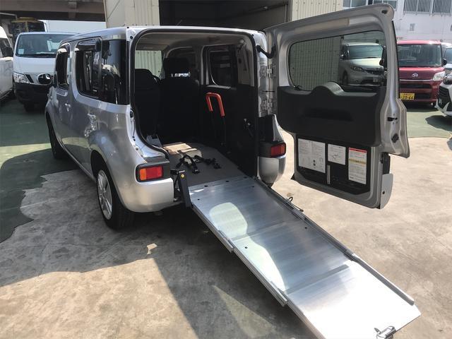 沖縄県の中古車ならキューブ 福祉車両 後席スロープ 車椅子1基載