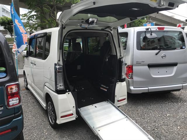 ホンダ N-BOX+カスタム G 後部スローパー 車椅子1基載 ドラレコ付