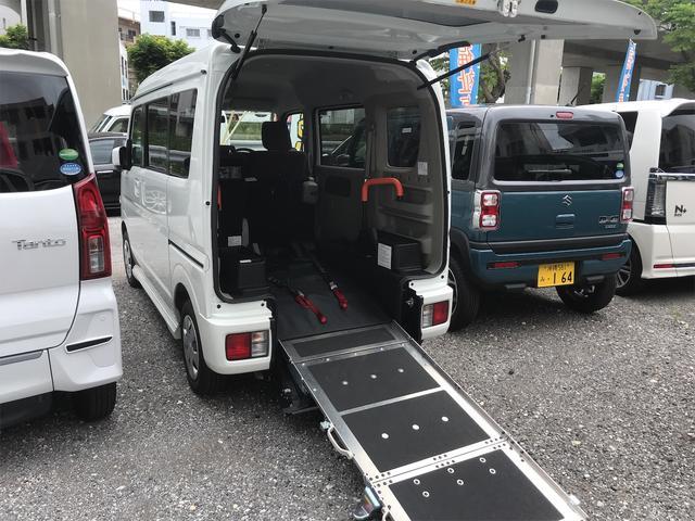 浦添市 人情くるまや 三和自動車 (株) 日産 NV100クリッパーリオ ターボ チェアキャブ 後部スローパー 車椅子1基載 ホワイト 0.5万km 2018(平成30)年