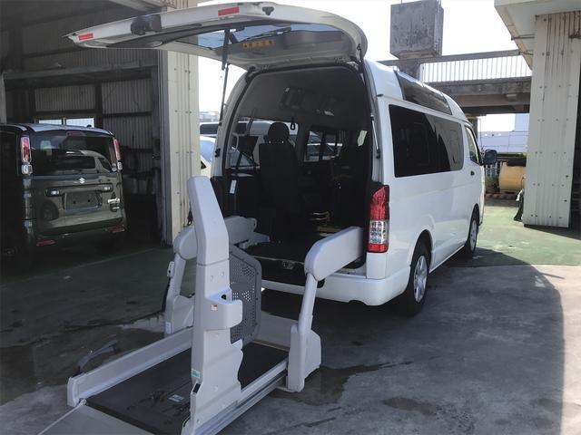 沖縄県の中古車ならレジアスエースバン  ウェルキャブ 福祉車両 オートリアリフト 車椅子2基載 オートステップ ディーゼル車