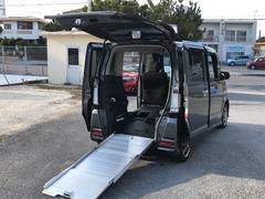 N−BOX+カスタムG 福祉車両 後部スローパー 車椅子1基載 スマートキー ナビTV DVD再生 バックモニター 両側スライドドア ETC ベンチシート
