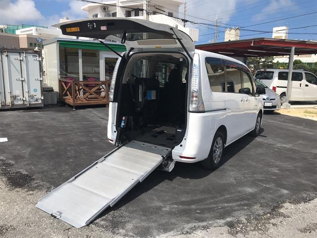 日産  チェアキャブ 福祉車両 後部スローパー 車椅子2基載 キーレス ナビ バックモニター DVD 両側スライドドア