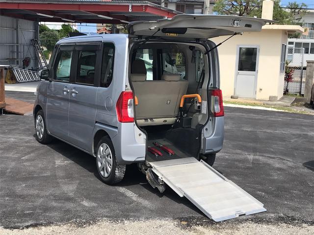 沖縄県の中古車ならタント  福祉車両 後部スローパー 車椅子1基載 キーレス CD ベンチシート ナビ 両側スライドドア