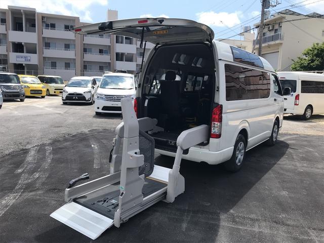 沖縄県の中古車ならレジアスエースバン  ウェルキャブ 福祉車両 後部電動リフトアップ 車椅子2基載 キーレス ディーゼル車