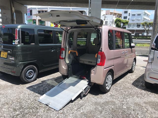 沖縄県の中古車ならタント  福祉車両 後部スローパー 車椅子1基載 キーレス ベンチシート 両側スライドドア アイドリングストップ