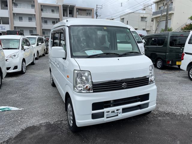 沖縄の中古車 スズキ エブリイワゴン 車両価格 77万円 リ済込 2014(平成26)年 12.9万km ホワイト