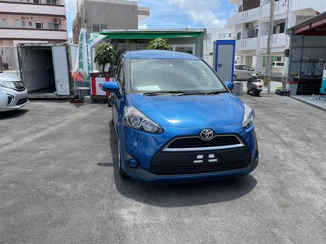 沖縄の中古車 トヨタ シエンタ 車両価格 163万円 リ済込 2016(平成28)年 3.3万km ブルー