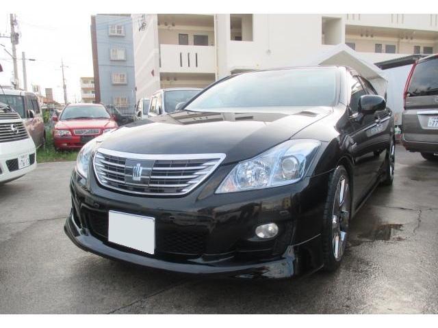 沖縄の中古車 トヨタ クラウンハイブリッド 車両価格 149万円 リ済込 平成21年 11.5万km ブラック