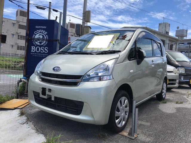沖縄の中古車 スバル ステラ 車両価格 39万円 リ済込 平成23年 7.3万km シャンパンメタリック