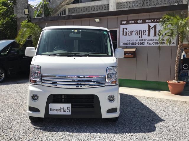 沖縄の中古車 スズキ エブリイワゴン 車両価格 75万円 リ済込 2013(平成25)年 10.9万km パールホワイト