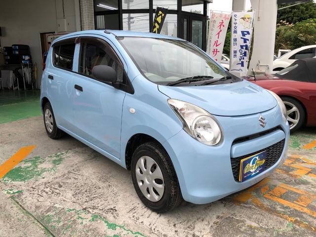 沖縄の中古車 スズキ アルト 車両価格 38万円 リ済別 平成23年 2.8万km エアブルーメタリック