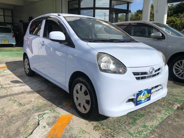 沖縄の中古車 ダイハツ ミライース 車両価格 29万円 リ済込 2011(平成23)年 10.8万km ライトブルー