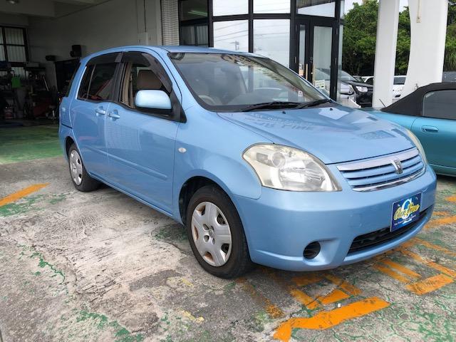 沖縄の中古車 トヨタ ラウム 車両価格 29万円 リ済別 2006(平成18)年 6.9万km ライトブルーM