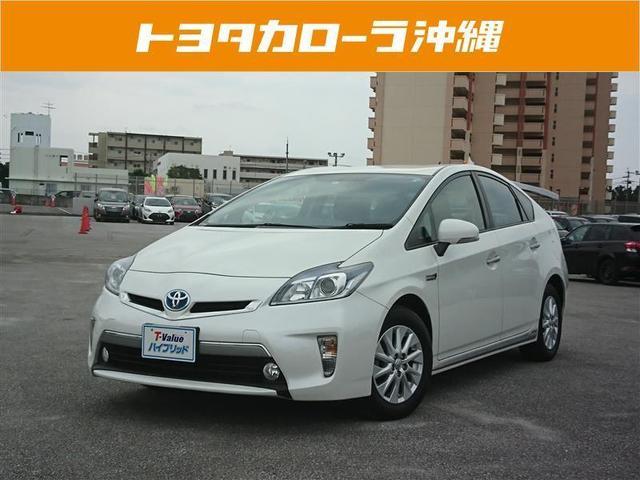 沖縄の中古車 トヨタ プリウスPHV 車両価格 160万円 リ済別 平成26年 6.0万km パールマイカ