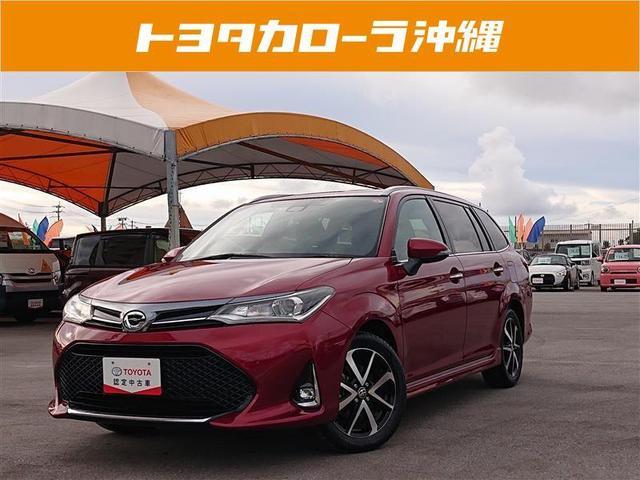 沖縄の中古車 トヨタ カローラフィールダー 車両価格 135万円 リ済別 2018(平成30)年 2.0万km アカ