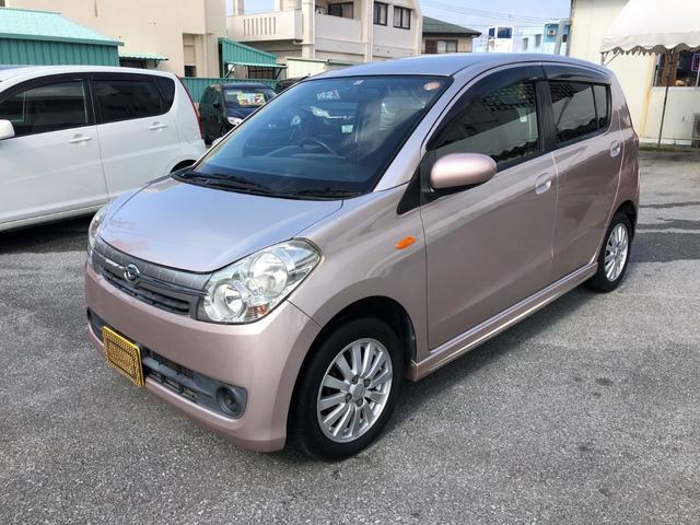 沖縄の中古車 ダイハツ ミラカスタム 車両価格 25万円 リ済込 平成20年 9.6万km ピンクM