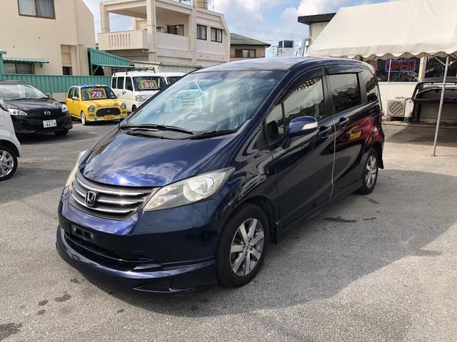 沖縄の中古車 ホンダ フリード 車両価格 53万円 リ済込 平成21年 8.6万km 紺M
