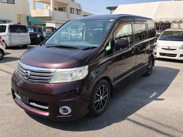 沖縄の中古車 日産 セレナ 車両価格 25万円 リ済込 平成18年 12.7万km ワインM