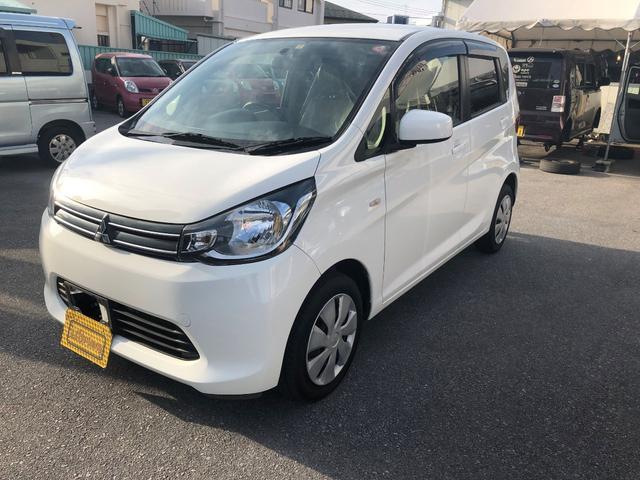 沖縄の中古車 三菱 eKワゴン 車両価格 48万円 リ済込 2015(平成27)年 7.2万km ホワイト