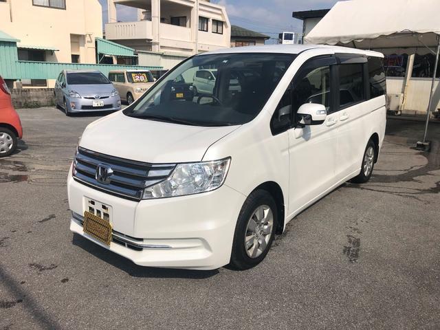 沖縄の中古車 ホンダ ステップワゴン 車両価格 98万円 リ済込 2013(平成25)年 9.8万km パールホワイト