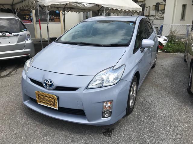 沖縄の中古車 トヨタ プリウス 車両価格 59万円 リ済込 2009(平成21)年 12.1万km ライトブルーM