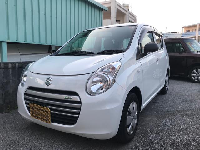 沖縄県糸満市の中古車ならアルトエコ ECO-L 2年車検2年保証付 H27年式の修復歴無し 本土車 キーレス アイドリングストップ付き低燃費人気車種 格安ドライブレコーダーもご相談ください