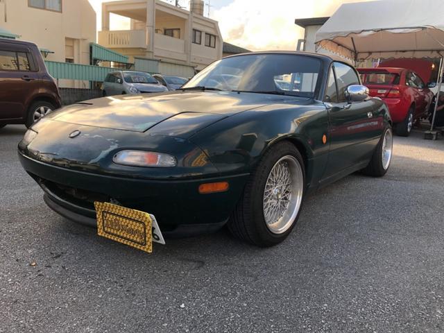 沖縄の中古車 ユーノス ユーノスロードスター 車両価格 ASK リ済込 1993(平成5)年 9.6万km グリーン