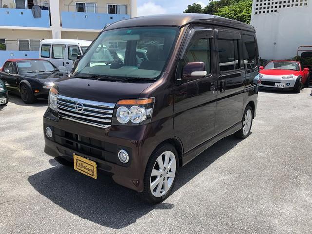 沖縄の中古車 ダイハツ アトレーワゴン 車両価格 48万円 リ済込 2012(平成24)年 9.2万km ブラウンM