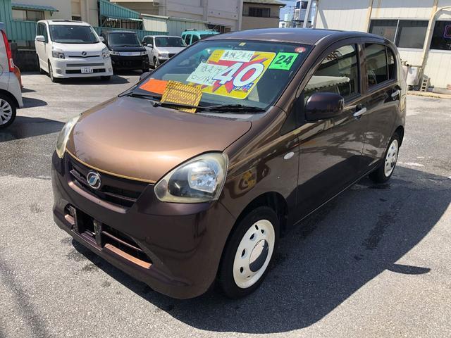 沖縄の中古車 ダイハツ ミライース 車両価格 40万円 リ済込 2012(平成24)年 1.6万km ブラウンM