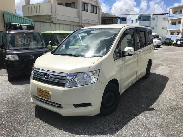 沖縄県糸満市の中古車ならステップワゴン G Lパッケージ 2年保証 両側パワスラ ETC ナビバックカメラ 後席モニター