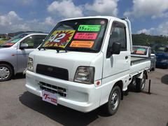 沖縄の中古車 スバル サンバートラック 車両価格 42万円 リ済込 平成15年 11.9万K ホワイト