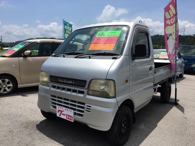 沖縄の中古車 スズキ キャリイトラック 車両価格 39万円 リ済込 平成13年 12.4万km シルバー