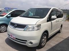 沖縄の中古車 日産 セレナ 車両価格 50万円 リ済込 平成19年 11.3万K パールホワイト