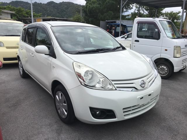 沖縄の中古車 日産 ノート 車両価格 42万円 リ済込 2011(平成23)年 7.7万km ホワイト