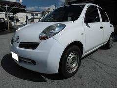 沖縄の中古車 日産 マーチ 車両価格 25万円 リ済込 平成20年 12.9万K ホワイト