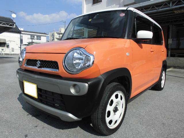 沖縄の中古車 スズキ ハスラー 車両価格 75万円 リ済込 平成26年 9.2万km パッションオレンジ