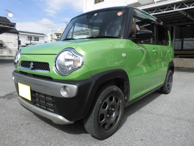 沖縄の中古車 スズキ ハスラー 車両価格 80万円 リ済込 平成28年 7.7万km ポジティブグリーンメタリック ブラック2トーンルーフ