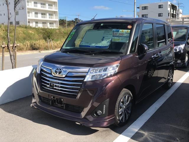 沖縄の中古車 トヨタ ルーミー 車両価格 199.8万円 リ済別 平成29年 0.3万km ブラウンM