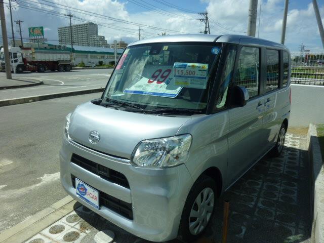 沖縄の中古車 ダイハツ タント 車両価格 95.7万円 リ済別 2016(平成28)年 6.4万km シルバー