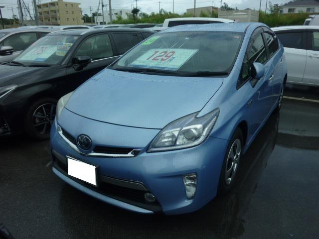 沖縄の中古車 トヨタ プリウスPHV 車両価格 118万円 リ済別 2012(平成24)年 6.4万km ライトブルー