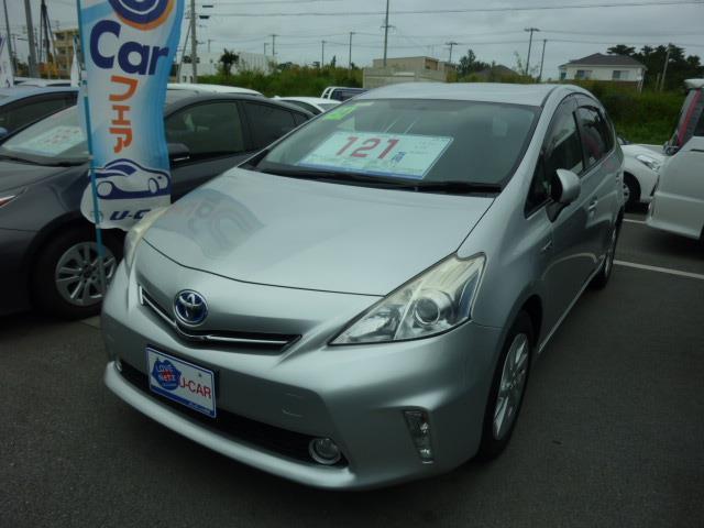 沖縄の中古車 トヨタ プリウスアルファ 車両価格 121万円 リ済別 2012(平成24)年 5.8万km シルバー