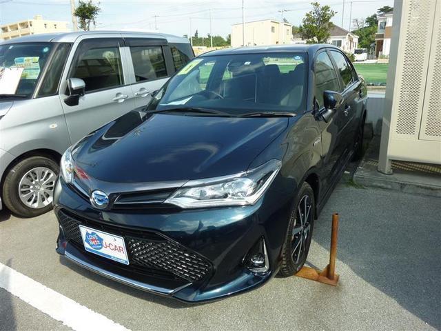 沖縄の中古車 トヨタ カローラアクシオ 車両価格 220万円 リ済別 2019年 0.7万km グリーン