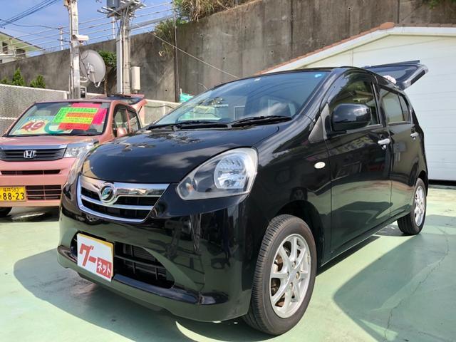 沖縄の中古車 ダイハツ ミライース 車両価格 48万円 リ済別 平成25年 3.9万km ブラック