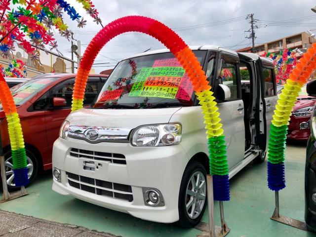 沖縄の中古車 ダイハツ タント 車両価格 79万円 リ済別 平成24年 1.8万km シルバー