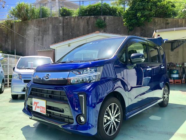 沖縄県の中古車ならムーヴ カスタムXリミテッドSAIII青/黒ツートンカラー