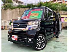 沖縄の中古車 ホンダ N BOXカスタム 車両価格 139万円 リ済別 平成29年 0.2万K ブラック