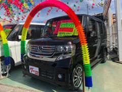 沖縄の中古車 ホンダ N BOXカスタム 車両価格 108万円 リ済別 平成26年 5.3万K ブラック