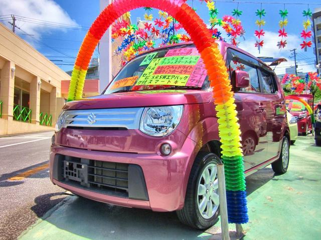 沖縄の中古車 スズキ MRワゴン 車両価格 55万円 リ済別 平成24年 9.0万km ピンク
